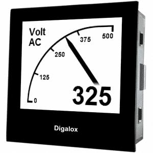 TDE Instruments Digalox DPM72-AV Grafisches DIN-Messgerät für Volt und Ampere