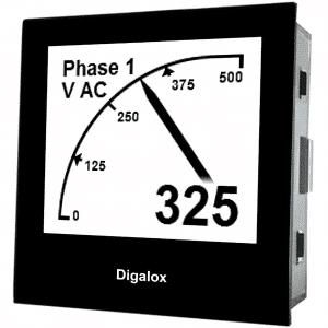 TDE Instruments Digalox DPM72-AVP Grafisches DIN-Messgerät für Volt und Ampere mit USB-Schnittstelle