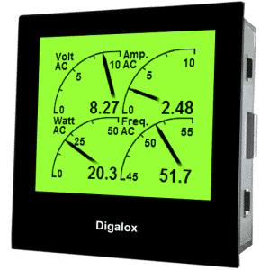 TDE Instruments Digalox DPM72-MP Grafisches DIN-Messgerät für 500V/10A AC/DC mit Mehrfachanzeige RGB