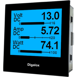 TDE Instruments Digalox DPM72-MPN digitales Multimeter Einbauinstrument