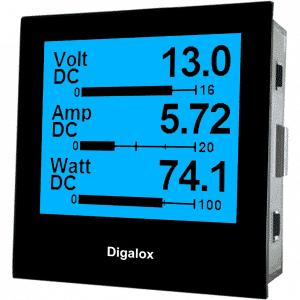 TDE Instruments Digalox DPM72-MPN Grafisches DIN-Messgerät für 500V/60mV DC mit Mehrfachanzeige RGB