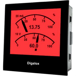 TDE Instruments Digalox DPM72-MPP Grafisches DIN-Messgerät für 10V/20mA DC mit Mehrfachanzeige RGB