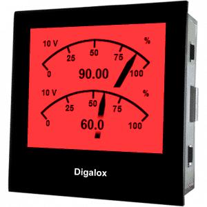 TDE Instruments Digalox DPM72-MPPA Grafisches DIN-Messgerät für 2x 0/4-20mA mit Mehrfachanzeige RGB