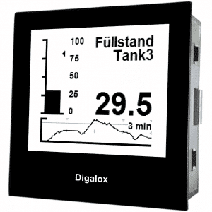TDE Instruments Digalox DPM72-PP Grafisches DIN-Messgerät für Nebenwiderstand und Analogsignal USB
