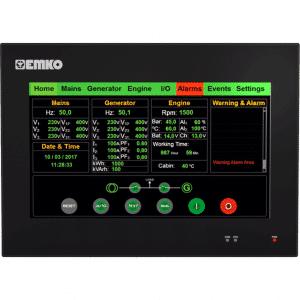 EMKO proop.black-10P Bedienpanel mit 10.1″ TFT Touchscreen, Ethernet, Wi-Fi, digitalen und analogen Eingängen und Ausgängen