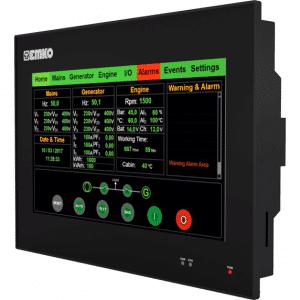 EMKO proop.black-10P HMI Touch Panel mit 10.1″ TFT Touchscreen, Ethernet, Wi-Fi, digitalen und analogen Eingängen und Ausgängen