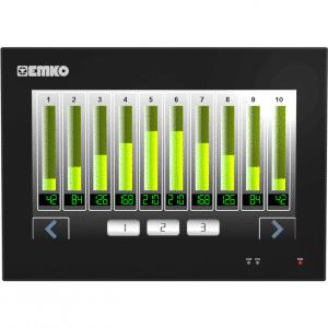 EMKO proop.black-10C Bedienpanel mit 10.1″ TFT Touchscreen, Ethernet, Wi-Fi, digitalen Eingängen und digitalen Ausgängen