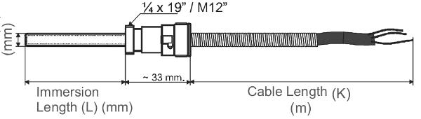 Temperaturfuehler mit Bajonettverschluss